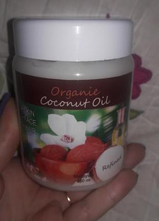 Рафинированное кокосовое масло organic coconut oil 250 мл