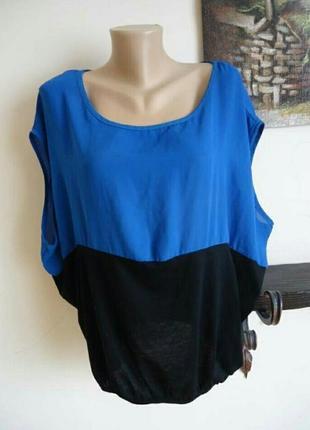 Блуза топ большой размер