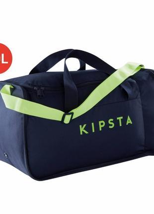 Тёмно-синяя спортивная сумка kipocket 40 литров kipsta. декатлон