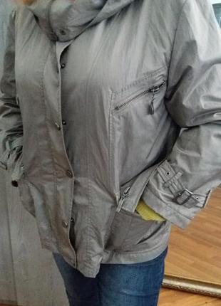 Куртка ветровка на подкладке .серебристо-серая mode express раз.16-18