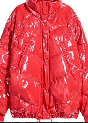 Лаковая куртка h&m