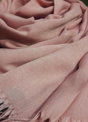 Роскошный грязно персиковый шарф шаль кашемировый