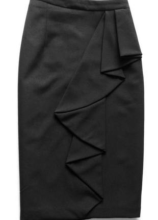 Стильная юбка карандаш миди dorothy perkins с воланами