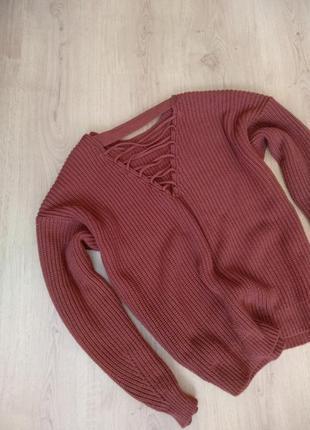 Коричневый свитер от new look