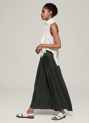 Черная длинная макси юбка zara