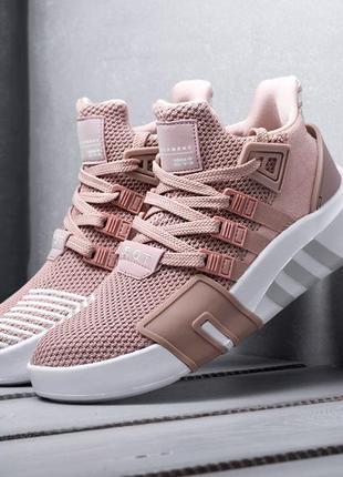 Adidas eqt bask adv pink white женские кроссовки наложенный платёж купить кросівки
