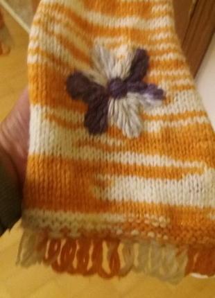 Шерстяной шарф benetton3