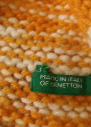 Шерстяной шарф benetton4