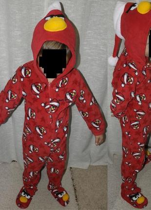 Angry birds essentials кигуруми пижама человечек комбинезон карнавальный