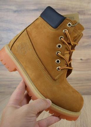 Ботинки зимние timerland classic boot flax 36-41р. натуральный мех