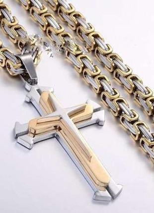 Цепочка + крест steel rage