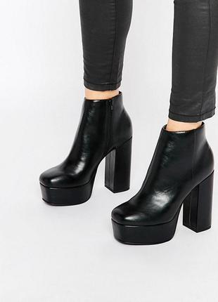 Ботинки на каблуке и платформе asos,р-р 41