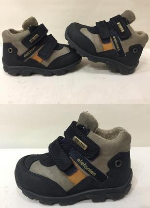 Ботинки зимние сапожки кожа термо elefanten (германия) р.21 (13.5см) в идеале