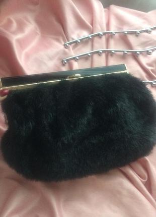 Стильная и красивая сумка-клатч из иск. меха под норку  тотальная распродажа!!!♥