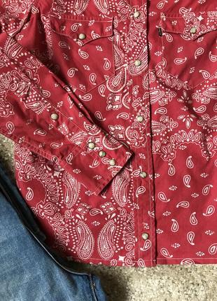 Красная рубашка в огурцы levi's2