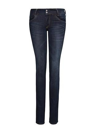Темно-синие джинсы mango