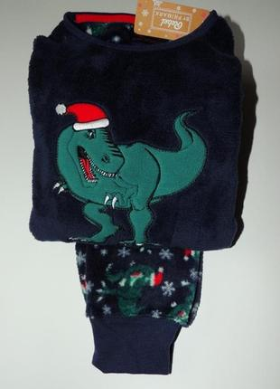 Пижама пушистый флис для мальчика санта, primark. размер 2-3 года
