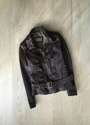 Кожанная курточка на тонком синтепоне, 100% кожа