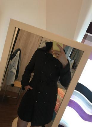 Стеганое пальто на синтепоне orsay размер м