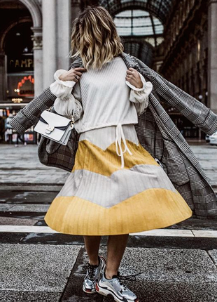 Плиссированная юбка миди от zara