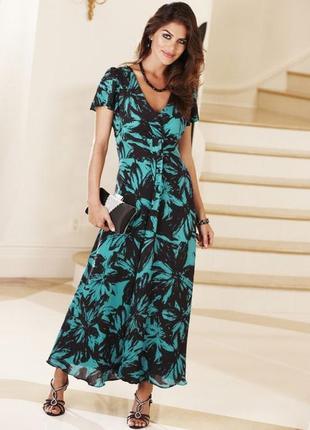 Шикарное шифоновое платье цветочный принт джоанна хоупuk18