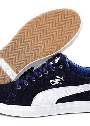 81496b7d50c2 Мужские кожаные кеды puma suede blue 40,41,42,43,44,45 Puma, цена ...