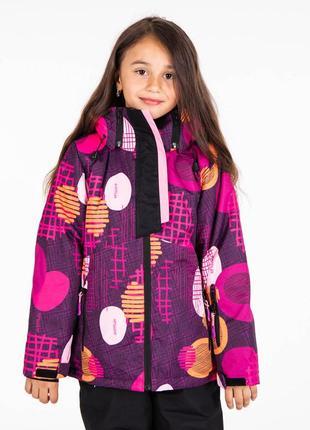 Комплект зимний мембранный термо на девочку: куртка и полукомбинезон.  116