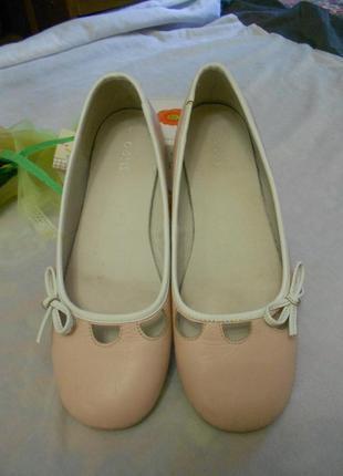 Oasis нежно-розовые туфли балетки, р.37, стелька 23,8 см