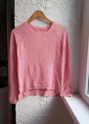 Стильный теплый свитер с ангорой р. s-m