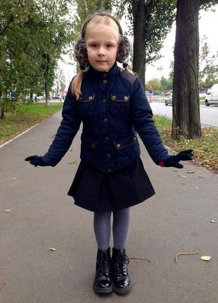 Куртка стёганная next 6-8лет осень-весна школьная форма