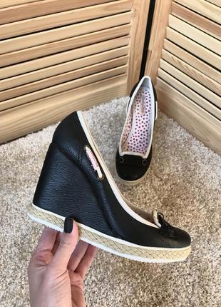 Кожаные туфли на платформе премиального бренда see by chloe