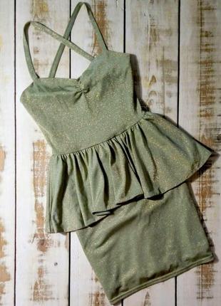 Платье с баской cocos fortune