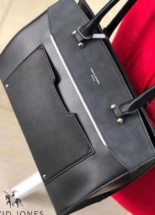 Женская офисная сумка на плечо david jones cm3932 d. grey (т. серая)