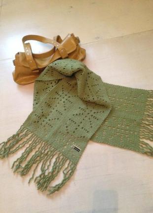 Теплый, красивый шарф. шерсть.