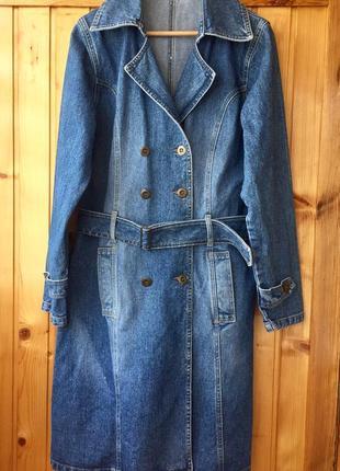 Стильный джинсовый тренч/l-xl