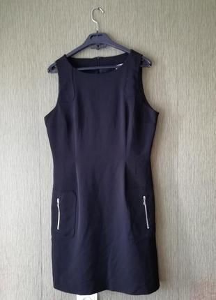 🌹 чёрное платье футляр 🌹базовое приталенное платье миди