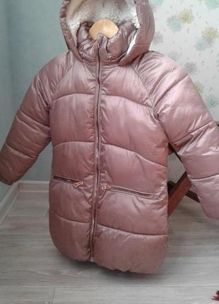 Зимняя тёплая куртка next на девочку 7 лет