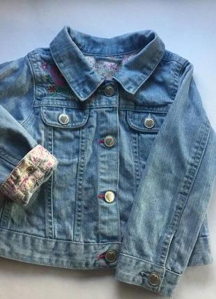 Джинсовый пиджак george 2-3 года