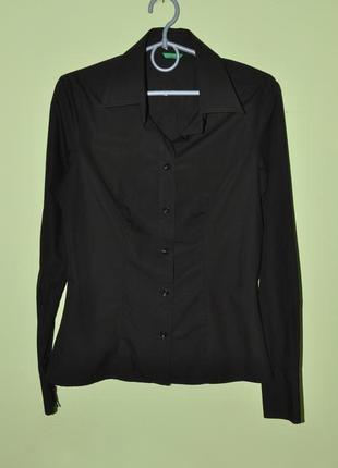 Рубашка черная united colors of benetton, s