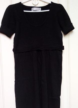 Теплое платье zara на короткий рукав