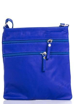 Кожаная синяя сумка-клатч tamara италия разные цвета