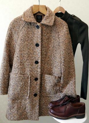 Стильное шерстяное пальто clockhouse