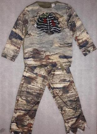 Карнавальный костюм на хэллоуин зомби 5-6 лет