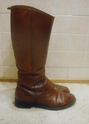 Сапоги  кожа tamaris на широкую ногу