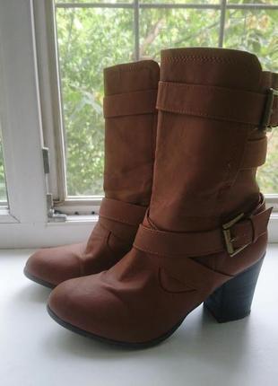 Акция до 28.10 стильные ботинки сапожки полусапожки сапоги полуботинки на среднем каблуке