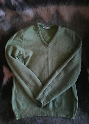 Теплий зелений джемпер lyle&scott