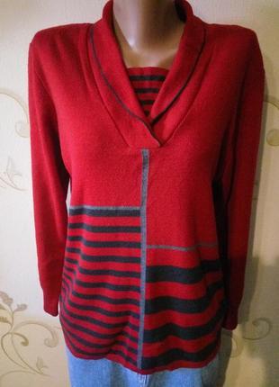 50% merino wool . эффектный свитер джемпер пуловер . шерсть меринос
