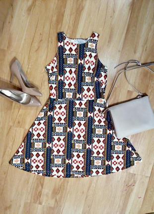 Платье в графический принт- плотный трикотаж (m-l)
