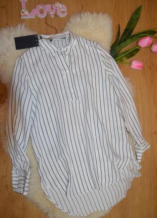 Удлиненная стильная рубашка zara