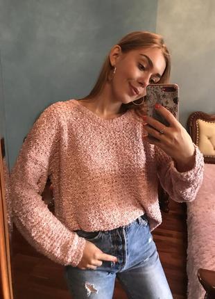 Нежный розовый свитер от george